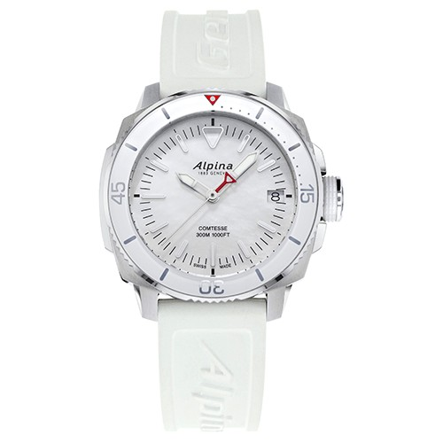 Alpina Seastrong Diver Comtesse White