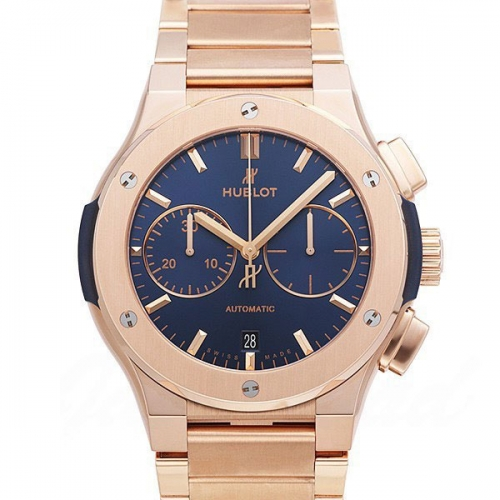 Hublot Classic Fusion 45mm Automatic Chronograph King Gold Blue
